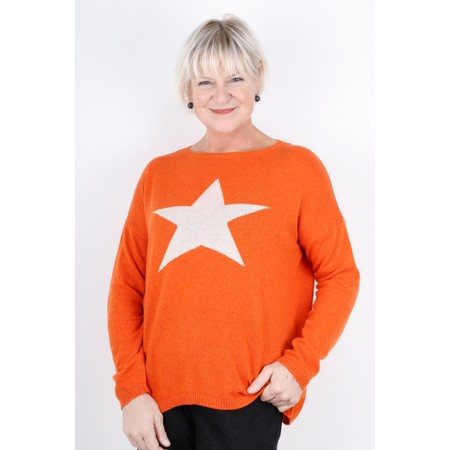 Luella Classic Star Cashmere Blend Jumper - Orange