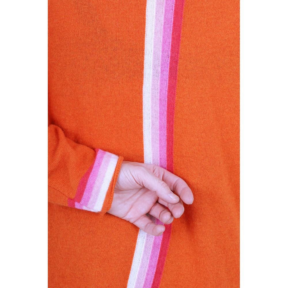 Luella Sofia Cashmere Blend Jumper  Orange