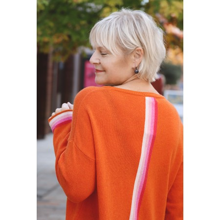 Luella Sofia Cashmere Blend Jumper  - Orange