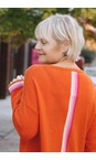 Luella Orange Sofia Cashmere Blend Jumper