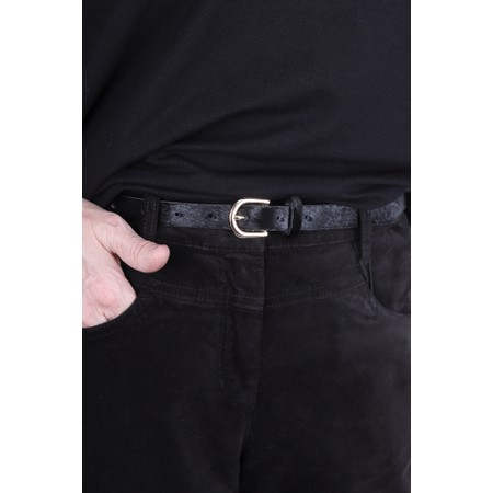Gemini Label  Zimba Narrow Belt - Black