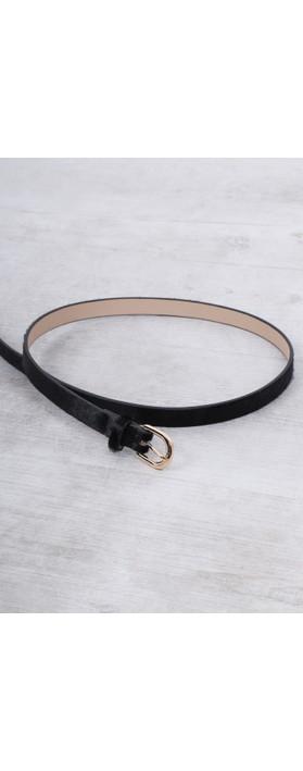Gemini Label Accessories Zimba Narrow Belt Black Pony