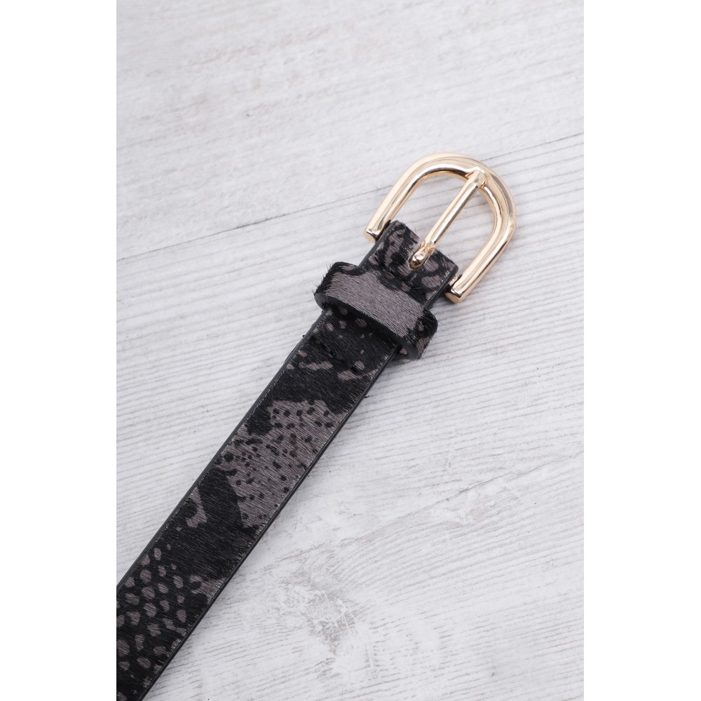 Gemini Label Accessories Zimba Narrow Belt Grey Snake