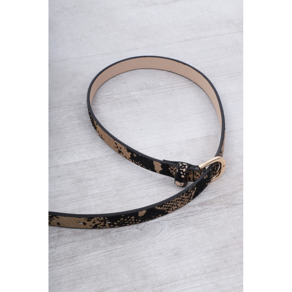 Gemini Label Accessories Zimba Narrow Belt Natural Snake