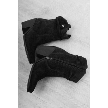 Marco Tozzi Rupa Suede Western Boot - Black