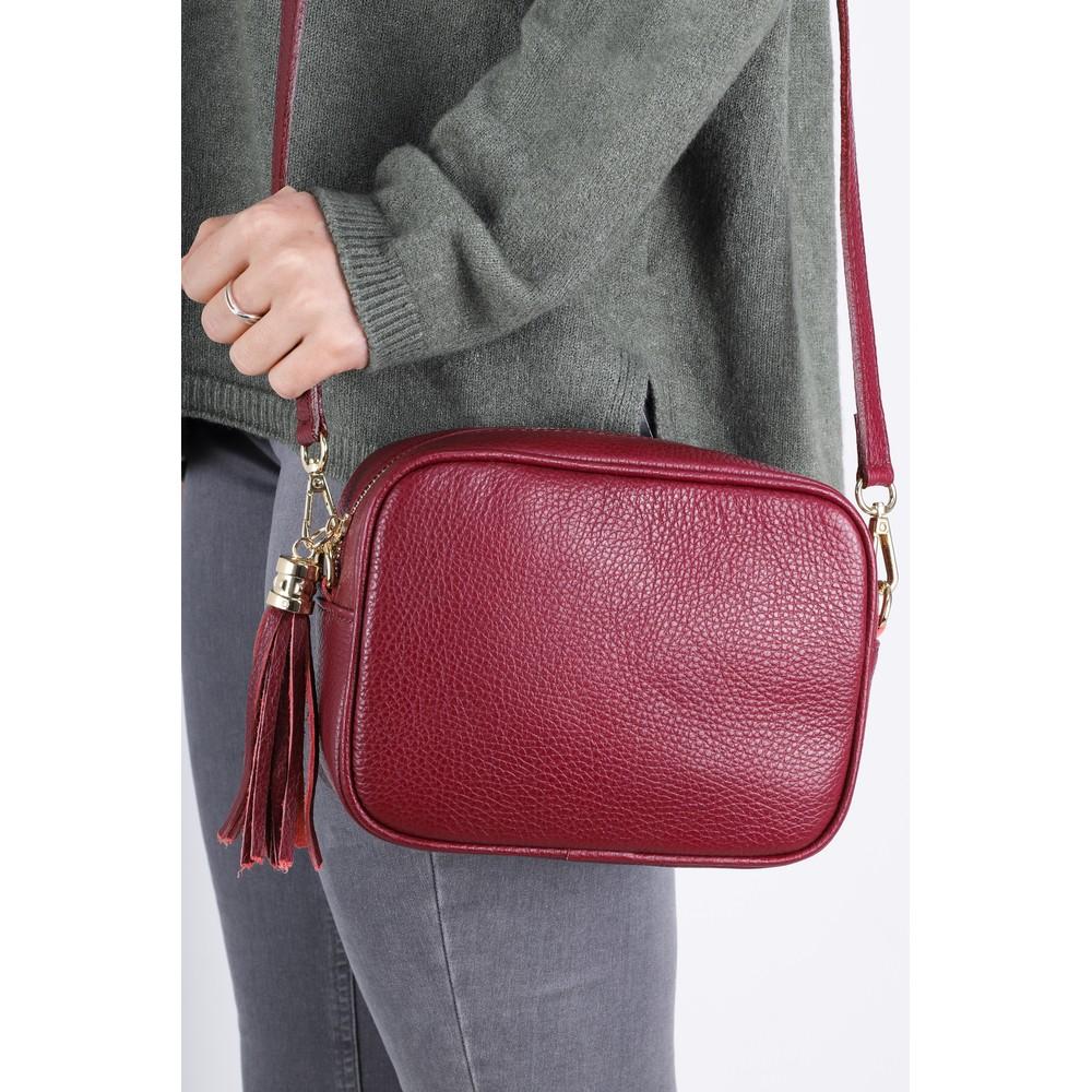 Gemini Label Bags Connie Cross Body Bag Dark Red