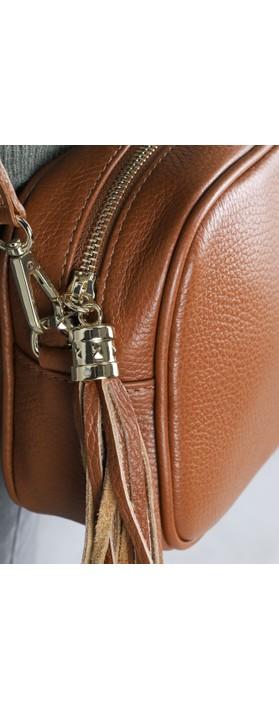 Gemini Label Bags Connie Cross Body Bag Dark Tan