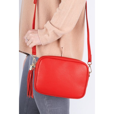 Gemini Label  Connie Cross Body Bag - Red