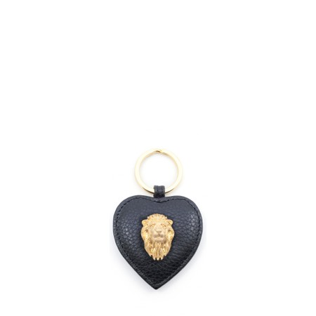 Bill Skinner Lion Heart Leather Keyring - Black