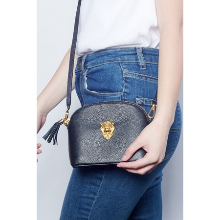 Bill Skinner Lion Cross Body Leather Margot Bag - Black