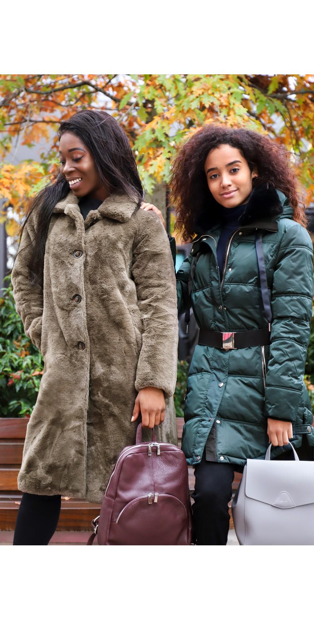Zonna Longline Faux Fur Coat main image