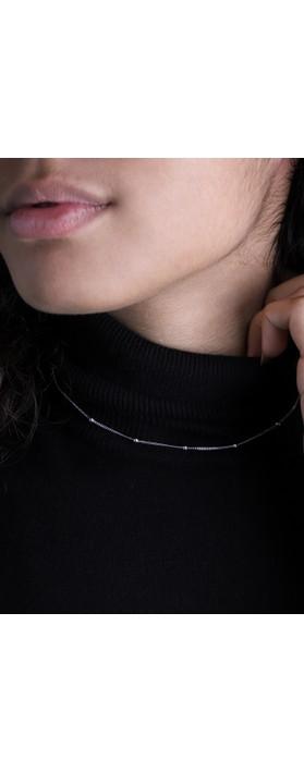 Ania Haie Modern Beaded Necklace Silver