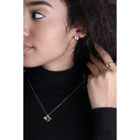 Ania Haie Crush Mini Square Stud Earrings - Gold