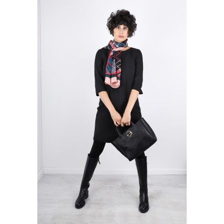 Sandwich Clothing Stripe Side Party Dress - Black