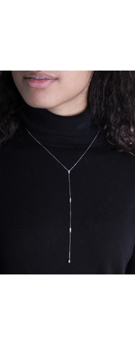 Ania Haie Glow Y Necklace Silver