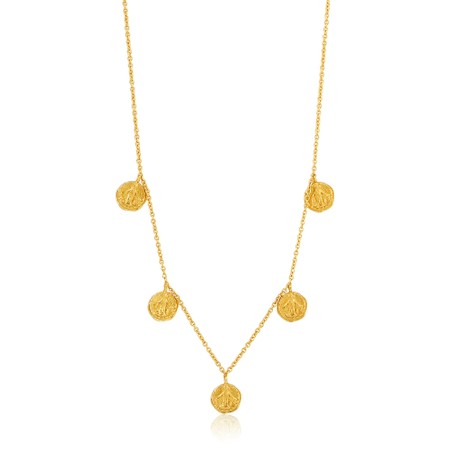 Ania Haie Deus Coins Necklace - Gold