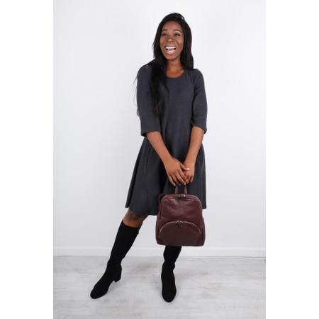 Thing Swing Pocket Fleece Dress - Grey