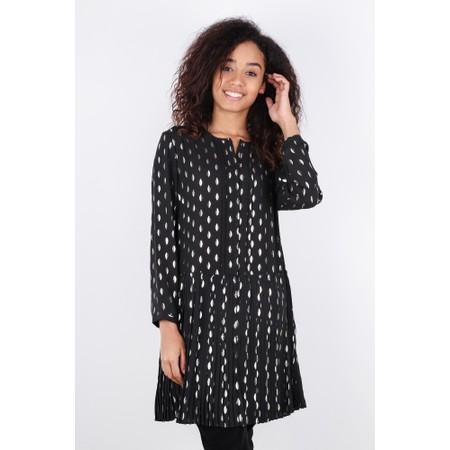 Great Plains Ada Foil Button Front Dress - Black
