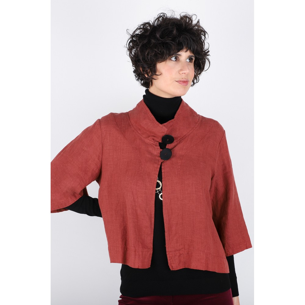 Thing Easy Fit Button Jacket Spice