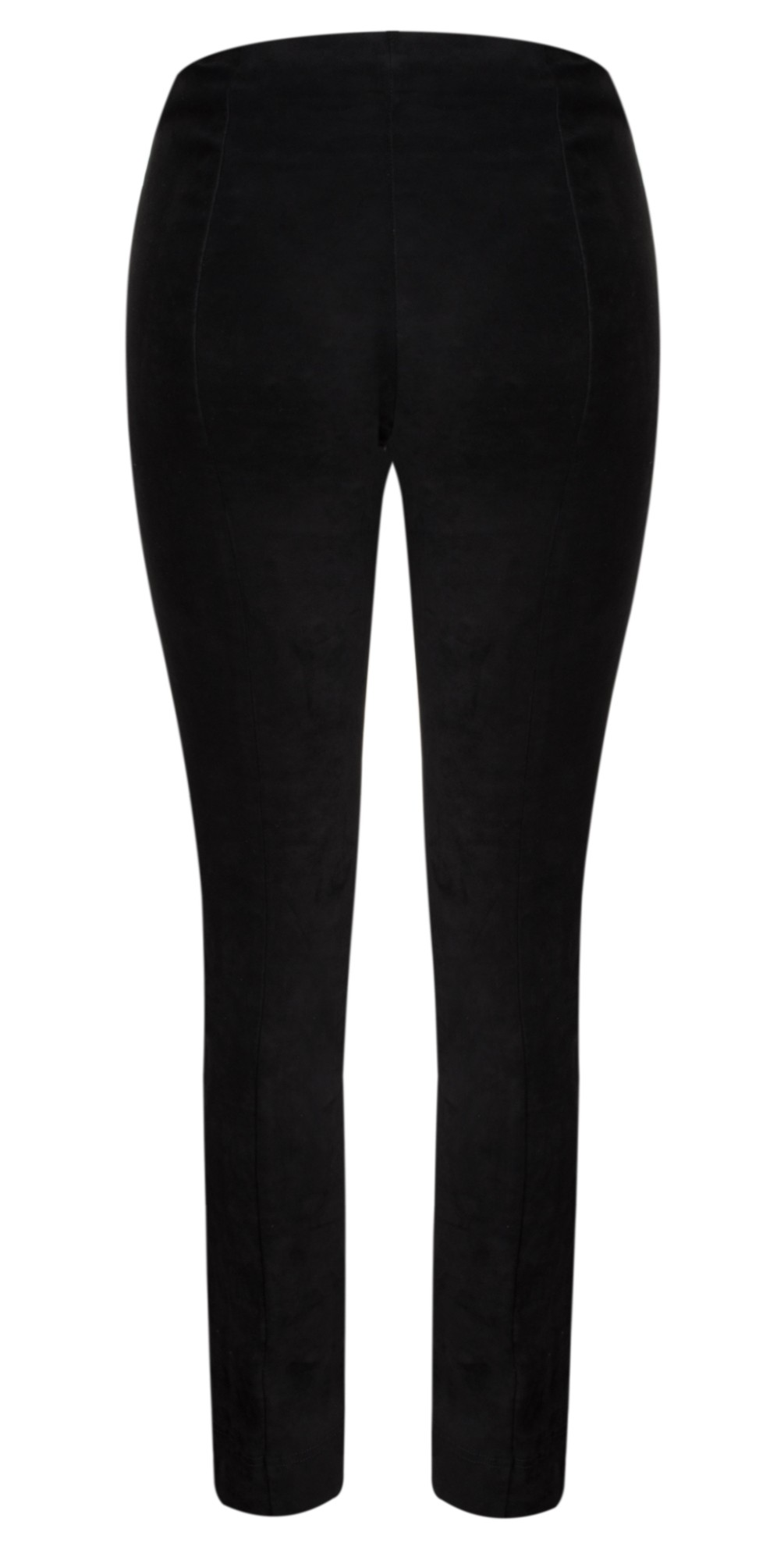 Rose Black Stretch Faux Suede Trouser main image