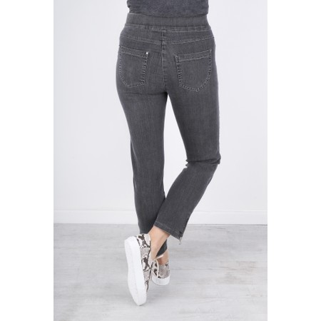 Robell  Nena Ankle Zip Cropped Jeans - Blue