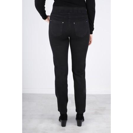 Robell  Nena 78cm Animal Print Denim Jeans - Grey