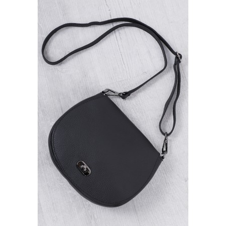 Gemini Label Bags Amber Leather Shoulder bag - Black
