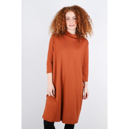 BY BASICS Maya Roll Neck EasyFit Dress - Orange