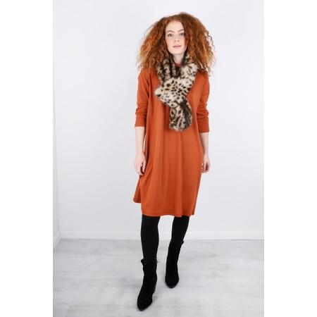 BY BASICS Maya Roll Neck EasyFit Dress - Orange