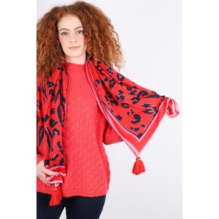 Mercy Delta Cashmere Square Scarf - Red