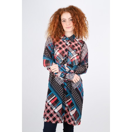 Sandwich Clothing Bold Multi Check Print Blouse - Pink