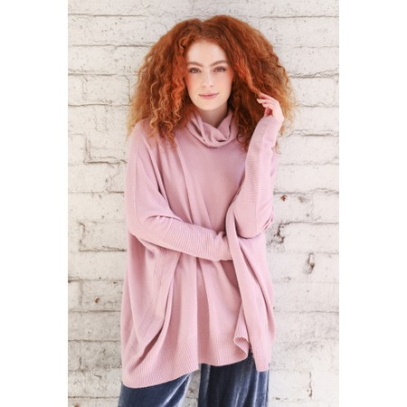 Fenella  Nina Supersoft Roll Neck Jumper  - Pink
