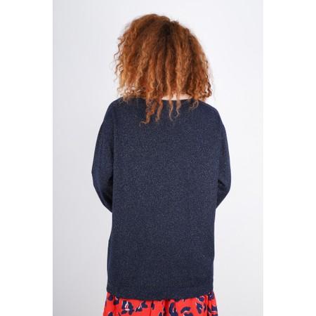 Fenella  Lilli Supersoft Metallic Easyfit Knit Jumper - Blue