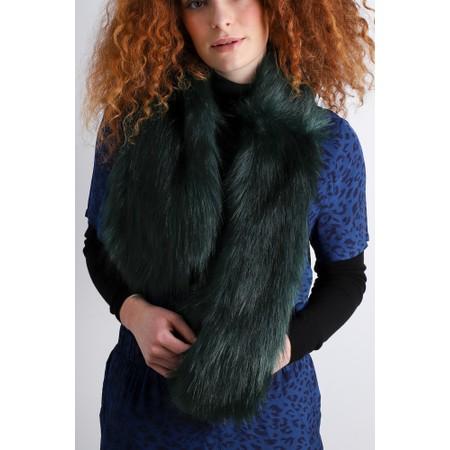 Helen Moore Loop Faux Fur Scarf - Green