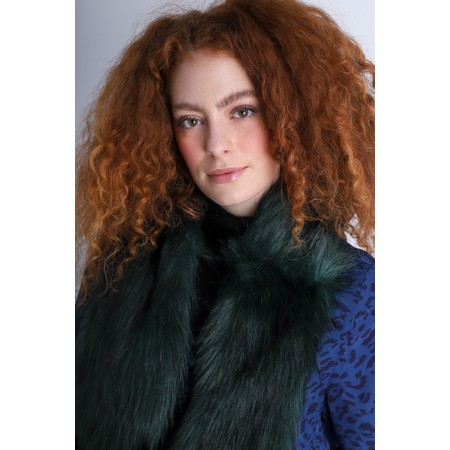 Helen Moore Loop Faux Fur Scarf - Green