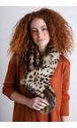 Helen Moore Ocelot Loop Faux Fur Scarf