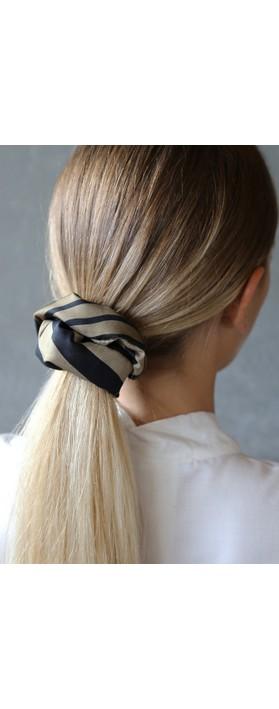 Tutti&Co Zebra Scrunchie Black