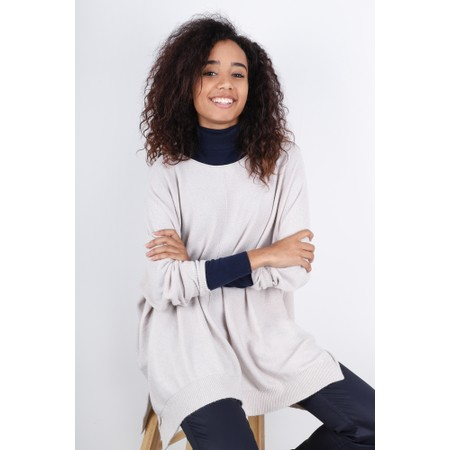 Fenella  Louie Supersoft Metallic Knit Jumper - Off-White