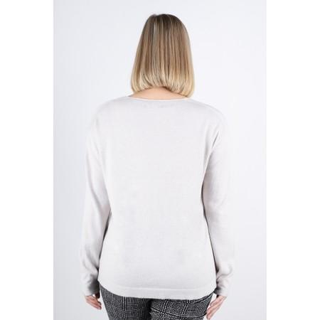 Fenella  Lilli Supersoft Metallic Easyfit Knit Jumper - Off-White