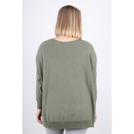Fenella  Louie Supersoft Metallic Knit Jumper - Green