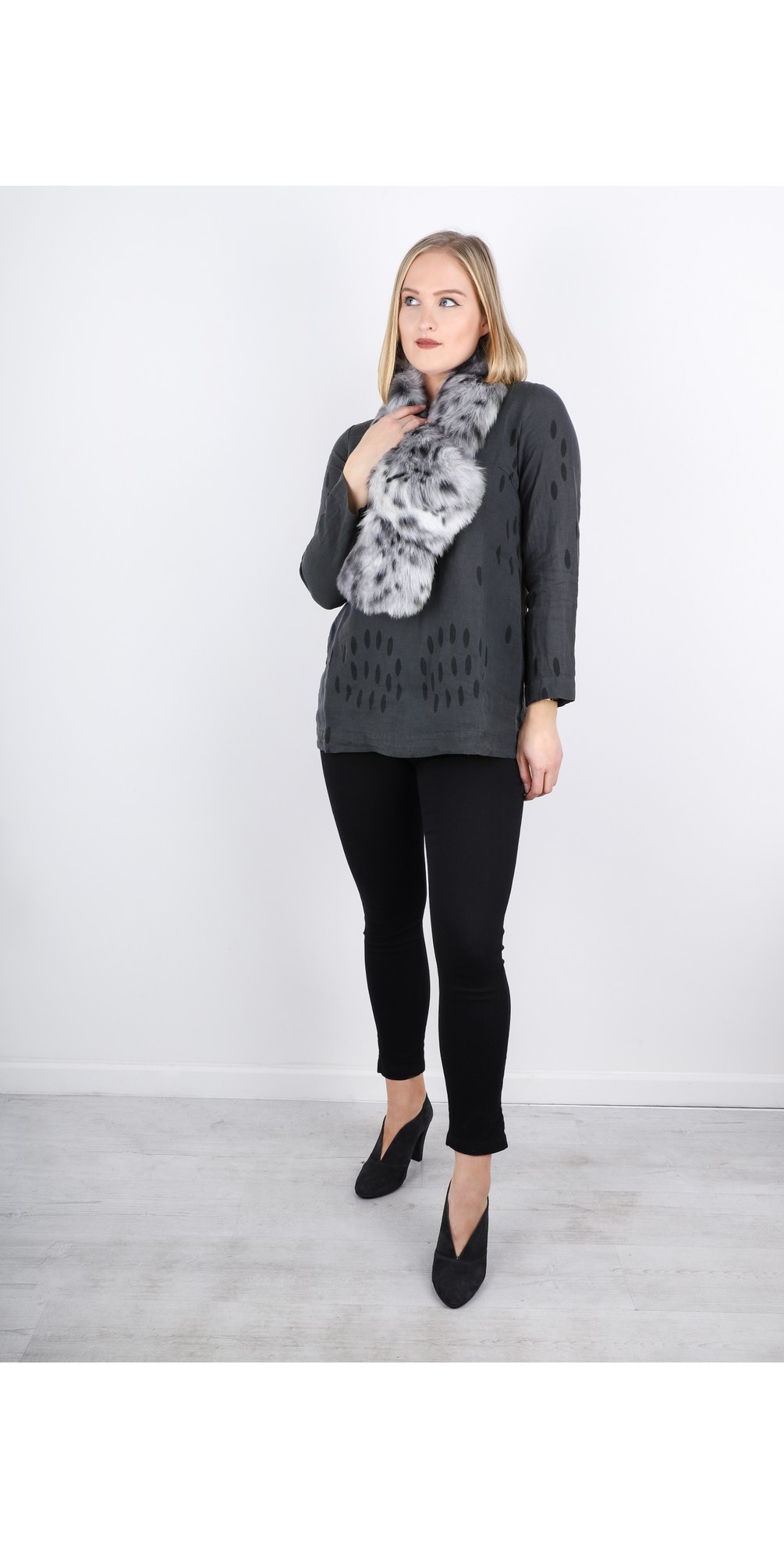 Ausra Printed Linen Tunic Top main image