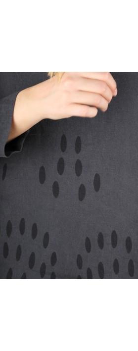 Grizas Ausra Printed Linen Tunic Top Anthracite 170