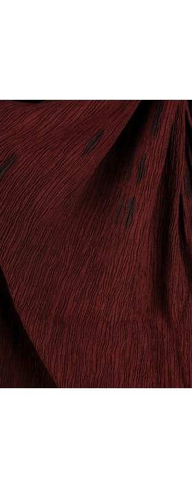 Grizas Aras Crinkle Animal Print Scarf Burgundy 175