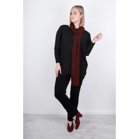 Grizas Vilte Solid Crinkle Silk Tunic - Black