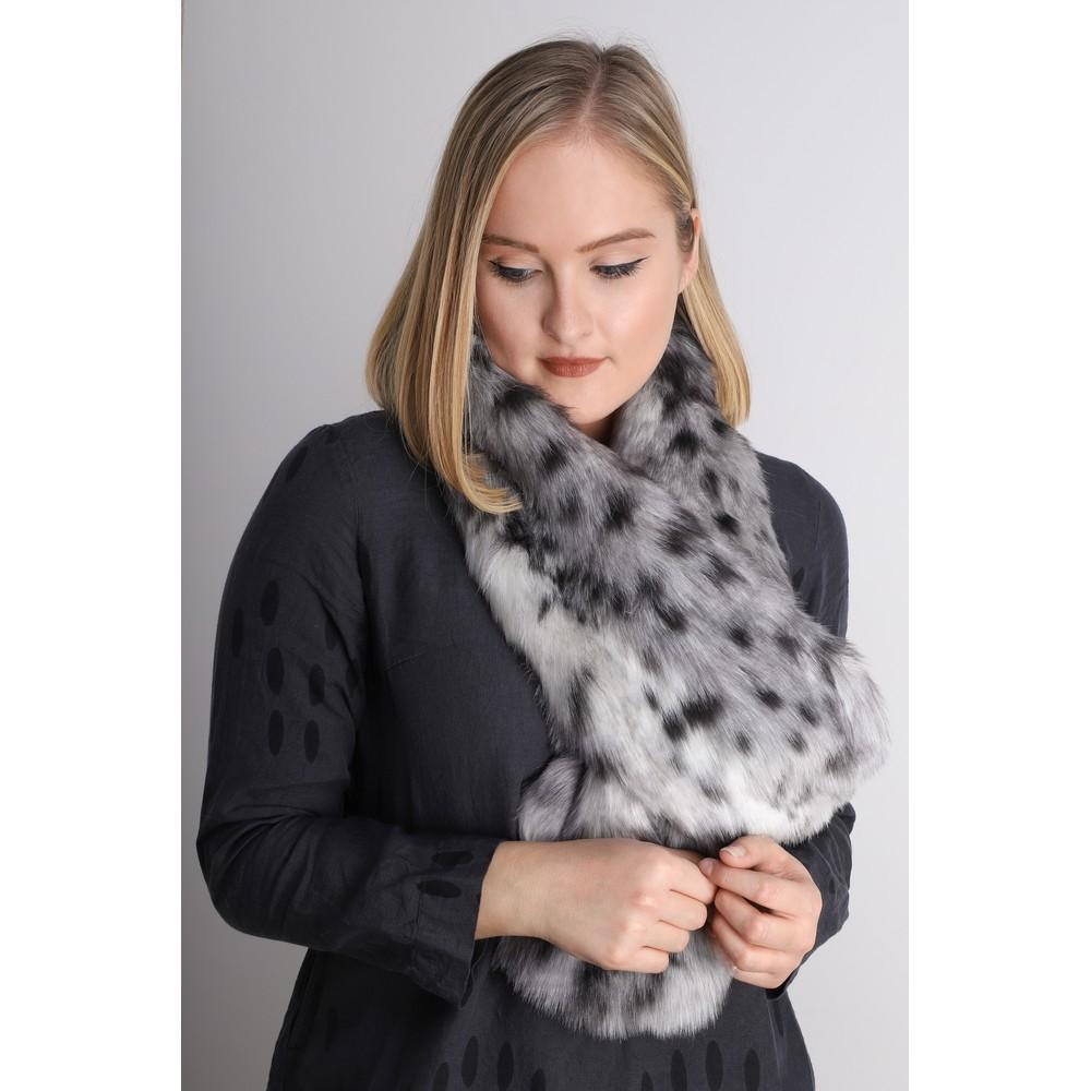 Helen Moore Loop Faux Fur Scarf Arctic Leopard