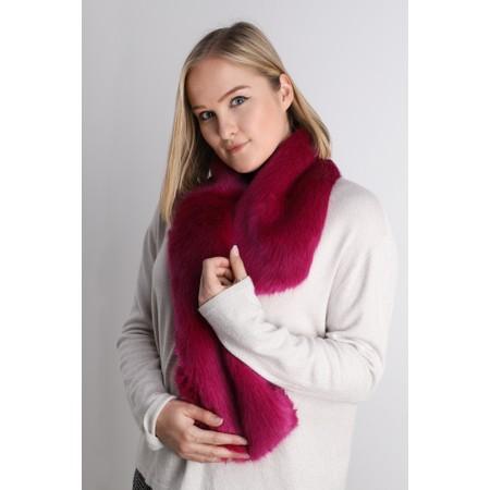 Helen Moore Loop Faux Fur Scarf - Pink