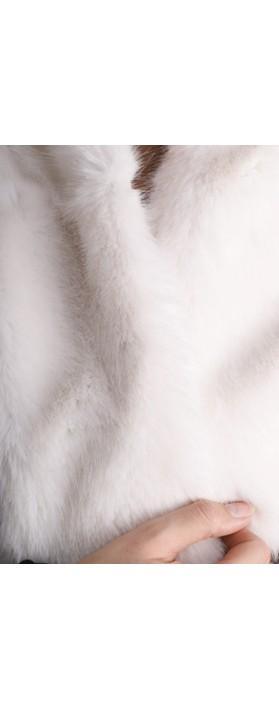 Helen Moore Loop Faux Fur Scarf Ermine
