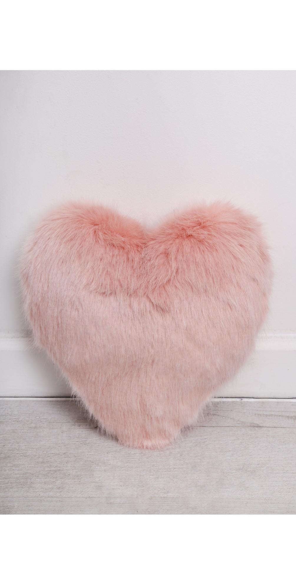 Heart Faux Fur Cushion  main image