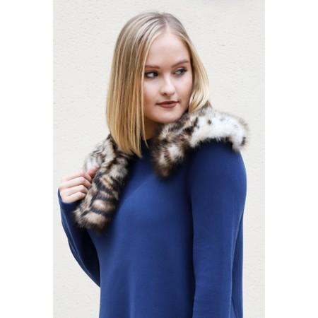 Helen Moore Ocelot Faux Fur Asymmetric Scarf - Brown