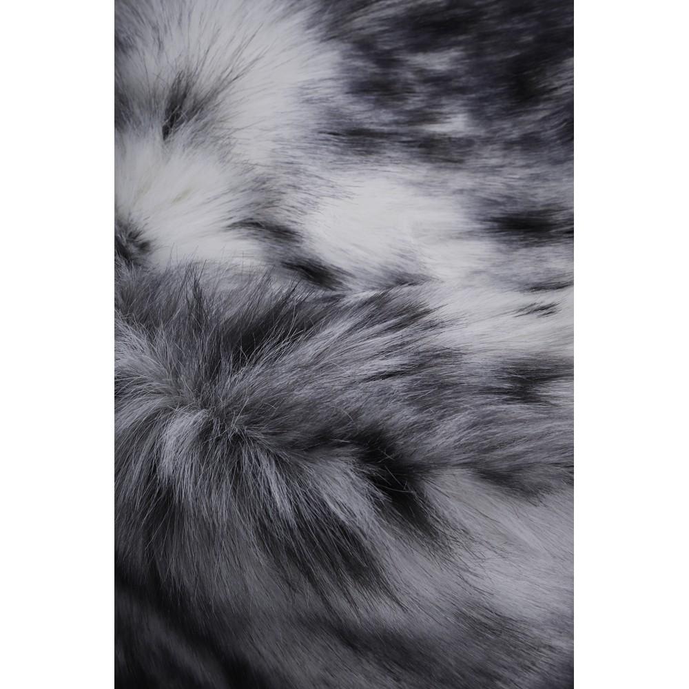 Helen Moore Pillbox Faux Fur Hat Arctic Leopard